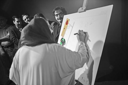 طاهره کدخدایی و شهرام ناظری در رونمایی کتاب یک نفس تازه