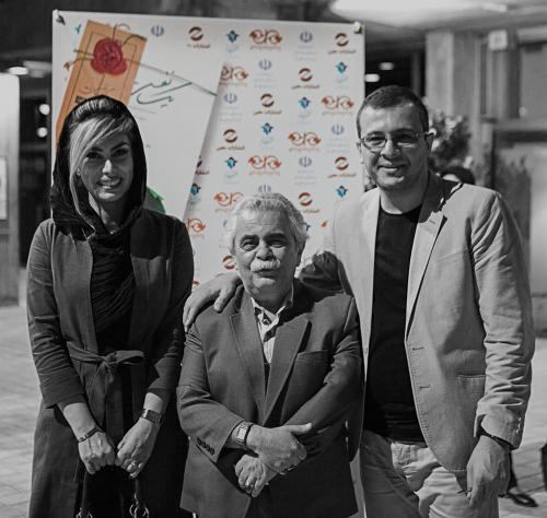 اردوان طاهری، احمد رضا اسعدی و دکتر آزیتا فیروزی در رونمایی کتاب یک نفس تازه