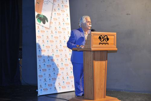 احمد رضا اسعدی در رونمایی کتاب یک نفس تازه